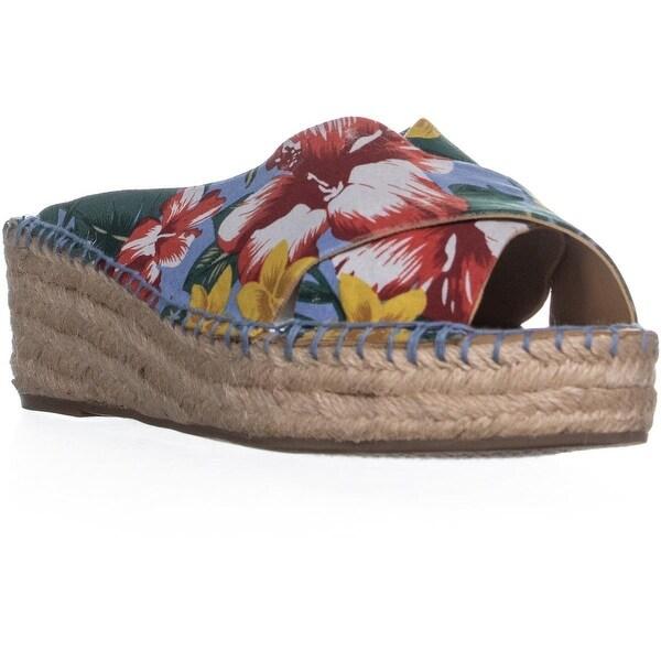 927d2f963c5 Shop Franco Sarto Polina Espadrille Wedge Sandals, Light Blue - On ...