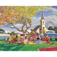 ''Sunday Picnic'' by Sarah Jenkins African American Art Print (24 x 36 in.)