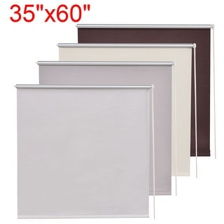 Costway 35''x60'' Roller Full Blinds Blackout Sunscreen Sun Shade Curtain Window 4 Color