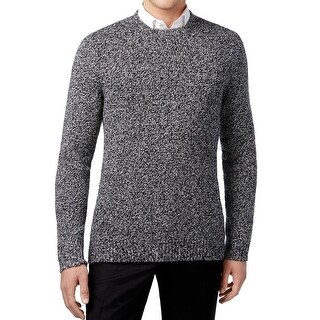 Calvin Klein NEW Black Mens Size 2XL Crewneck Boucle Marled Knit Sweater