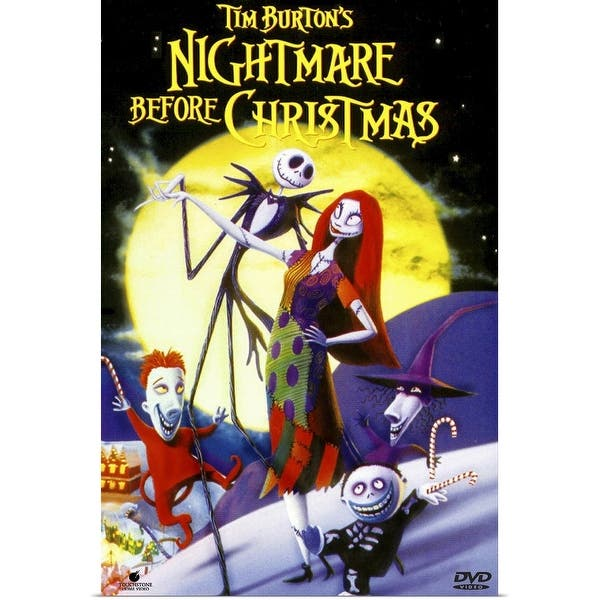 Shop Black Friday Deals On Tim Burtons The Nightmare Before Christmas 1993 Poster Print Overstock 24136814