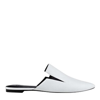 Marc Fisher Womens Shiloh Leather Pointed Toe Slide Flats