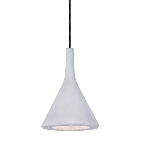 Besa Lighting 1JT-GALAWH-LED Gala 1-Light LED Mini Pendant with White Concrete Shade - n/a
