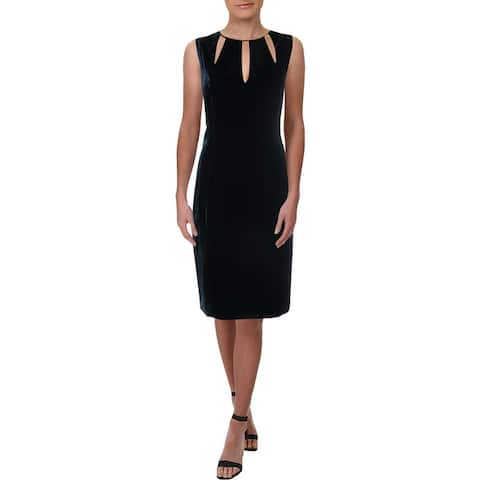 Elie Tahari Womens Jemra Cocktail Dress Velvet Special Occasion
