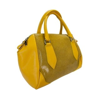 H&S Collection 5198-56 GL SASHA Yellow Structured Sacthel/ Shoulder Bag - 13.5-9-7