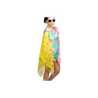 Womens Feather Summer Poncho Coverup