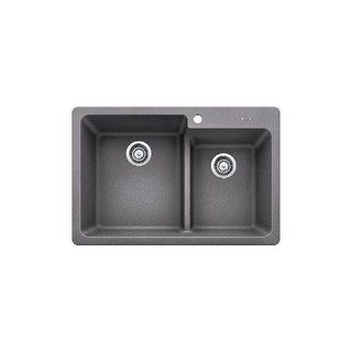 "Blanco 4420 Grandis 33"" Double Basin Drop In/Undermount Sink with Low Divide"