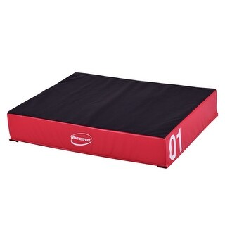 Gymax 6'' PVC Soft Foam Jumping Box Plyometric Exercise Fitness Safe Red
