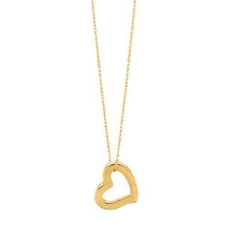 Mcs Jewelry Inc 14 KARAT YELLOW GOLD HEART PENDANT NECKLACE 18