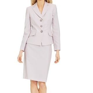 Le Suit NEW Women's 18 Pink Gray Pinstriped Two-Piece Skirt Suit Set
