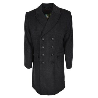 Link to Robert Graham Men's THE FAMILY MAN Grey Wool Blend Woven Coat Jacket Similar Items in Men's Outerwear