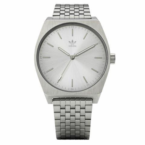 Adidas Men's Process M1 Z02 1920-00 Silver Stainless-Steel Quartz Fashion Watch