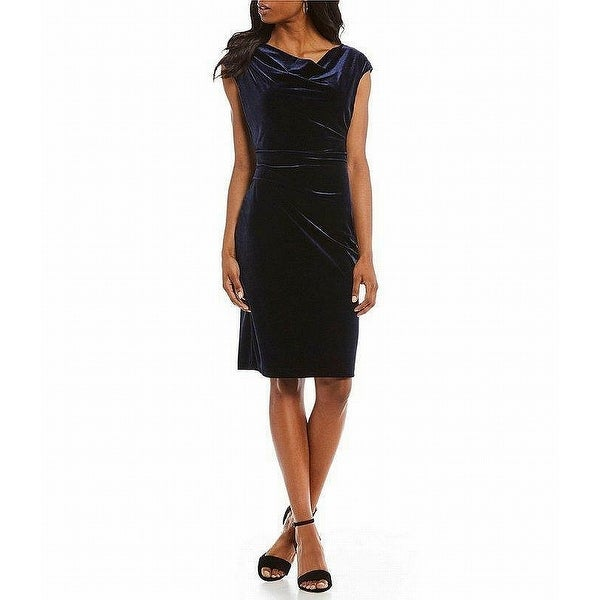 6cb1eb290b6 Shop Jessica Howard Navy Blue Womens Size 16 Cap Sleeve Sheath Dress - Free  Shipping On Orders Over  45 - Overstock - 27985345