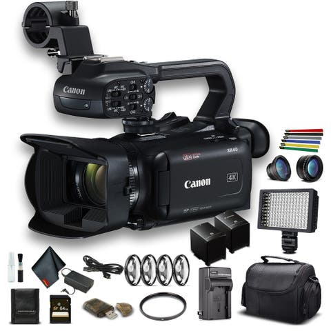 Canon XA40 Professional UHD 4K Camcorder (3666C002) W/Extra Battery,