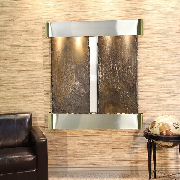 Aspen Falls Fountain - Stainless Steel - Rounded Edges - Choose Options