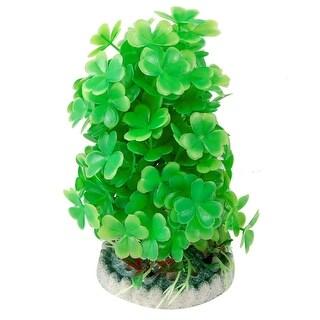 Aquarium Round Ceramic Base Green Aquascaping Plant Grass