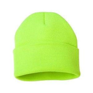 Sportsman 12 Inch Knit Beanie - Safety Yellow - One Size