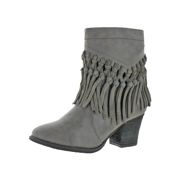 Shop Sbicca Womens Kathrin Casual Boots Knotted Fringe Ankle - Free ... 93909937444f