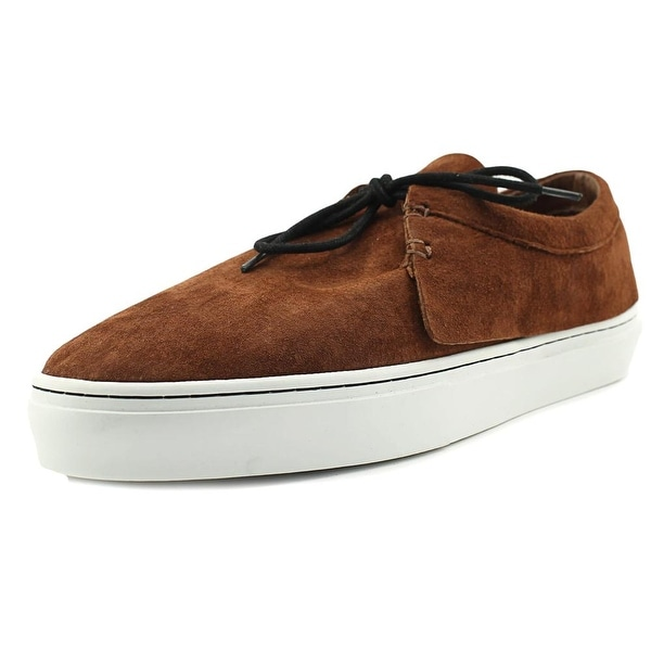Clear Weather Santora Men Round Toe Suede Brown Sneakers