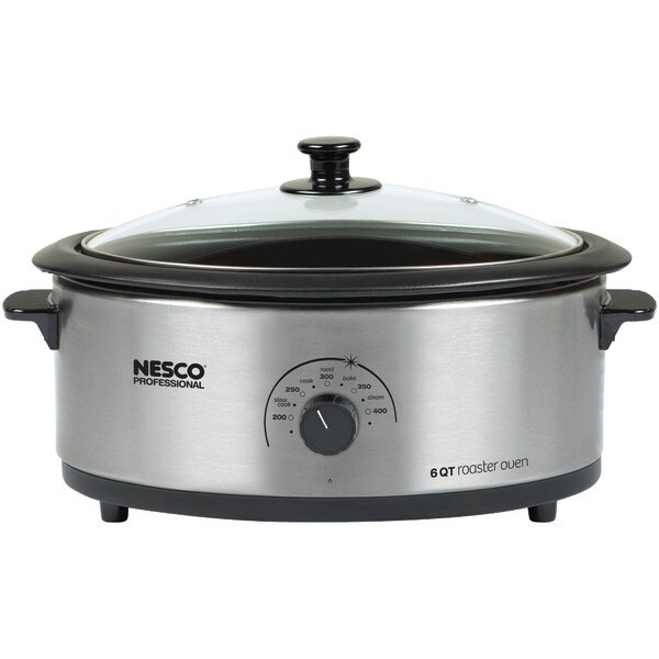 Nesco 4816-25-30 6-Quart Nonstick Roaster Oven (Stainless Steel)
