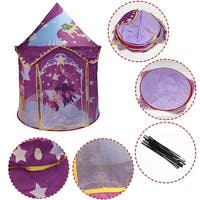Costway Kids Baby Play Tent Princess Castle Playhouse In/Outdoor Portable Foldable Gift - Purple