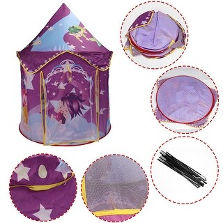 Costway Kids Baby Play Tent Princess Castle Playhouse In/Outdoor Portable Foldable Gift - as pic