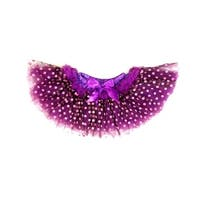 Purple Pink Dot 10 Layer Tutu Skirt Girls L