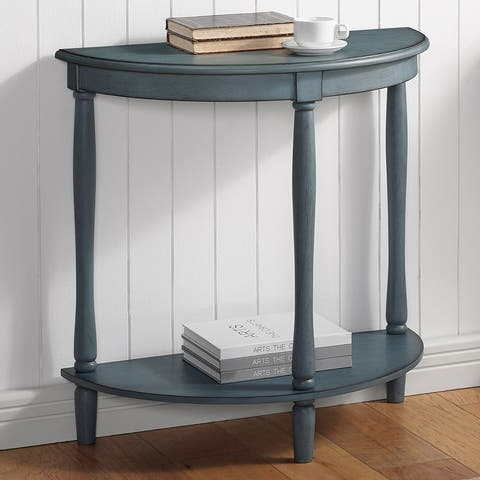 Furniture of America Landree Transitional Demi Round Entryway Table