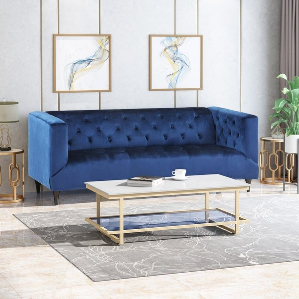 Loomis Contemporary Velvet 3-Seater Sofa by Christopher Knight Home. Opens flyout.