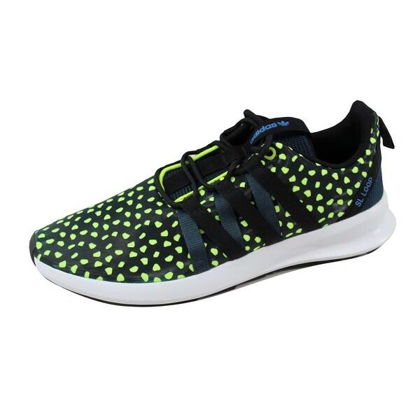 Adidas Men's SL Loop CT Petrol Ink/Black-Yellow Q16404 Size 10.5