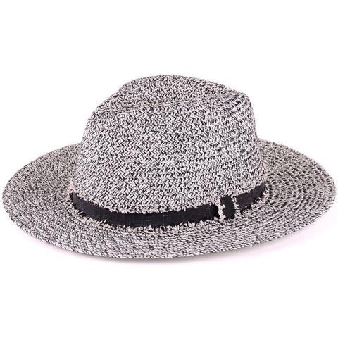 BYOS Fashion Boho Summer Straw Panama Hat Wide Brim