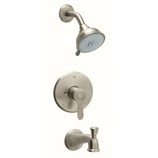 Grohe 35 040  Parkfield Single Handle Pressure Balance Tub and Shower Trim with Multi Function Shower Head - Starlight Chrome