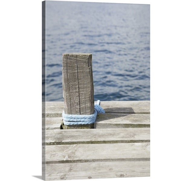 Shop Wooden pole with rope on pier - Multi-Color - Free