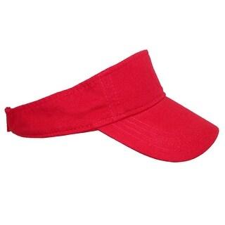 ValuCap Garment Washed Cotton Sun Visor Cap - One Size