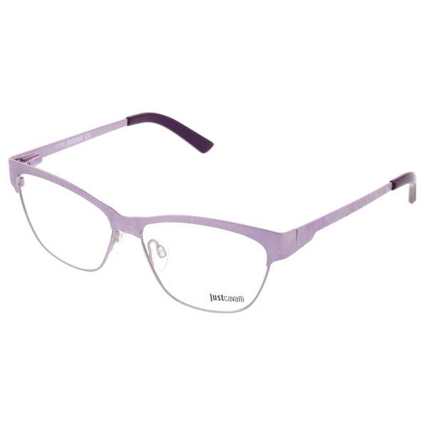 Just Cavalli JC0476/V 081 Lilac Semi-Rimless Optical Frames - 53-13-135