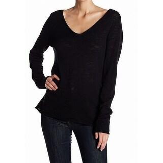 Susina Black Women's Size Small S V-Neck Lightweight Sweater