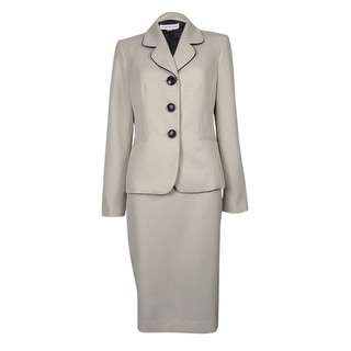 Evan Picone Women's City Chic Pattern Skirt Suit