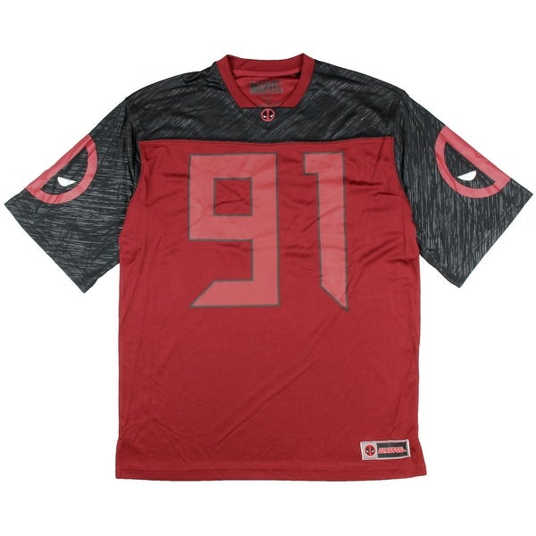 c148b784778 Shop Marvel Deadpool Team Deadpool Football Jersey - Free Shipping On  Orders Over  45 - Overstock - 22799984
