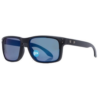 Oakley Holbrook OO9102-52 Matte Black Blue Polarized Sunglasses 55mm - MATTE BLACK - 55mm-18mm-137mm