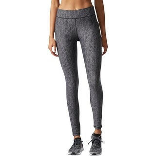 Adidas Womens Athletic Tights Moisture Wicking Heathered