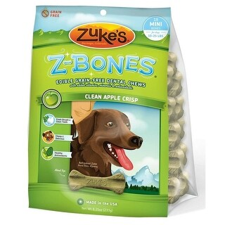 Zuke's Z-Bones Grain Free Edible Dental Chews Clean Apple Crisp 18 count Small