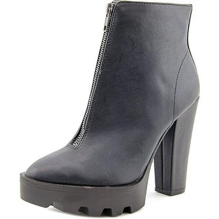 Mia Nata Round Toe Synthetic Ankle Boot