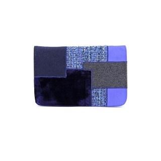 Shiraleah Patrizia Women Velour Blue Clutch