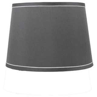 Link to French Drum With White Trim Lampshade, 12 inch Top, 14 inch Bottom, 10 inch Slant Similar Items in Lamp Shades