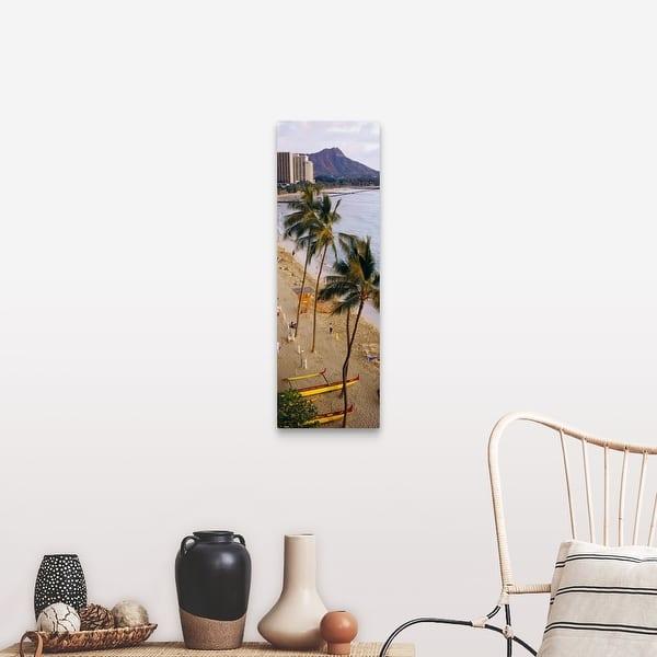 Waikiki Beach Honolulu Hi Canvas Wall Art Overstock 16867994