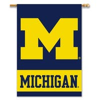 University of Michigan Wolverines 2-Sided House Flag/Banner