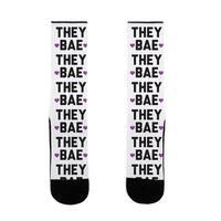 LookHUMAN They Bae US Size 7-13 Socks