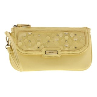 Nine West Womens Table Treasures Studded Wristlet Clutch Handbag - Small