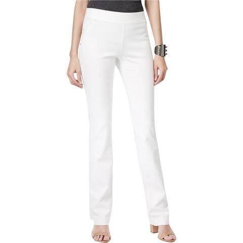 I-N-C Womens Straight-Leg Casual Trousers