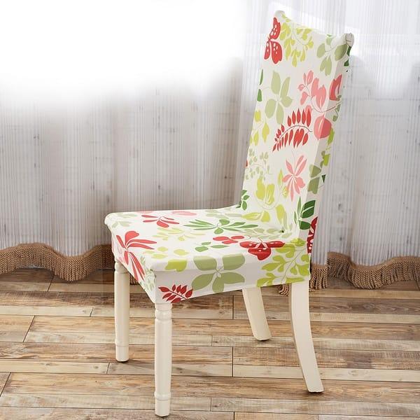 Cool Shop Unique Bargains Red Green Removable Stretch Elastic Creativecarmelina Interior Chair Design Creativecarmelinacom